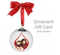 Ornament Gift Card - one photo