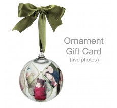 Ornament Gift Card - five photos