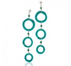 Circle 3 Tier Earrings
